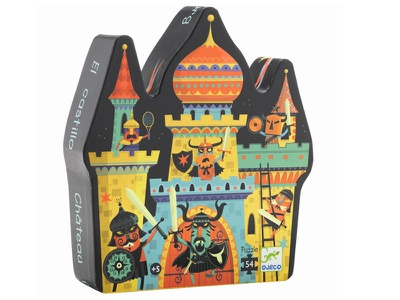 Castle Jigsaw Puzzle puzzle illustration kids children fun swords knights fort character helmet fight battle
