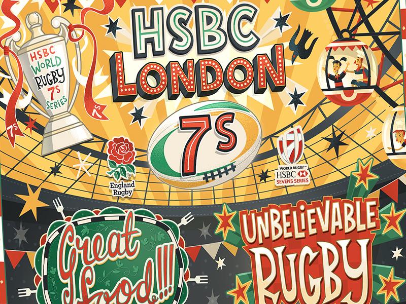 HSBC London 7s Branding by Steve Simpson on Dribbble