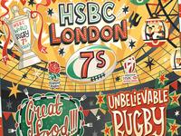 HSBC London 7s Branding