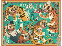 DOMA 도마 - restaurant mural