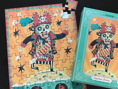 Pirate Jigsaw fun illustrated toy jigsaw puzzle pirate illustration