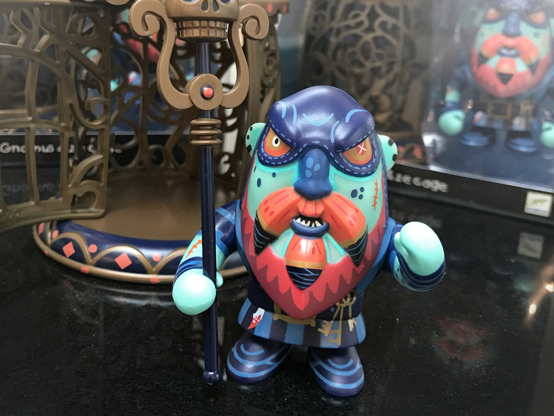 GNOMUS AND ZE CAGE dwarf pirate vinyl toy illustrated character illustration toy design