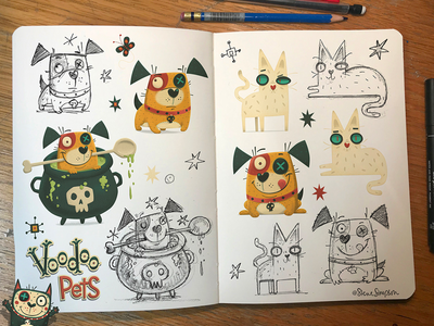 Voodoo Pets hand lettering fun cat dog shampoo pets voodoo design packaging