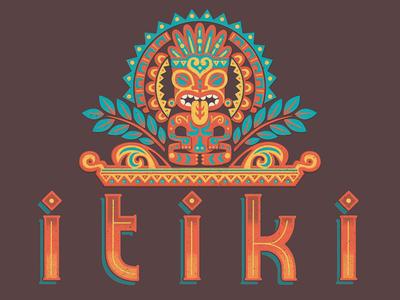 ITIKI hand lettering illustration graphic design logo design branding hei tiki itiki