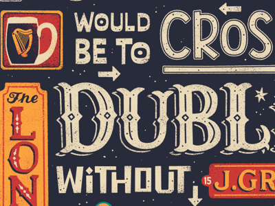 Work in progress bars type illustration dublin hand lettering lettering