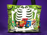 Reflective trick or treat bag - reverse