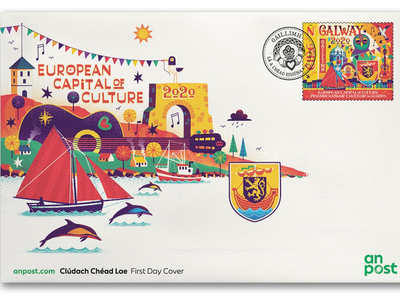 Galway 2020 capital of culture fun european capital culture ireland galway illustration design stamp