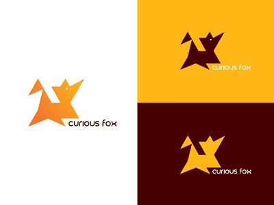 Curious Fox identity logo