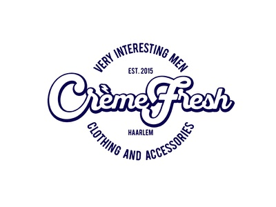 CremeFresh brand clothing retail identity logo