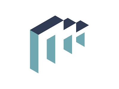 M-Block construction sketch illustrator identity logo