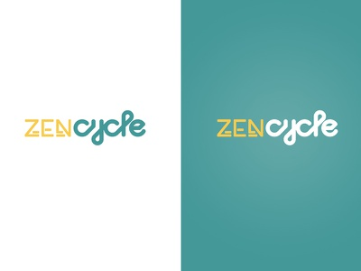 Zen Cycle cycling identity logo