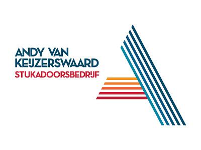 AVK Stukadoors design corporate identity logo