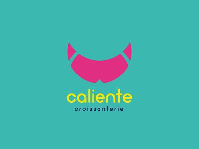 Caliente Croissanterie design identity logo