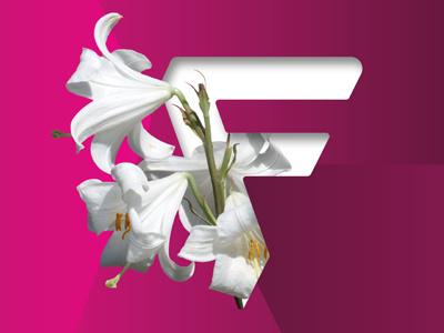 F for Fresh art direction flowers fresh design logo