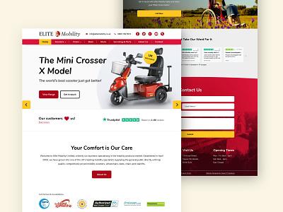 Mobility Scooter Website UI elderly scooter mobility web design branding web digital design website ux bristol ui design