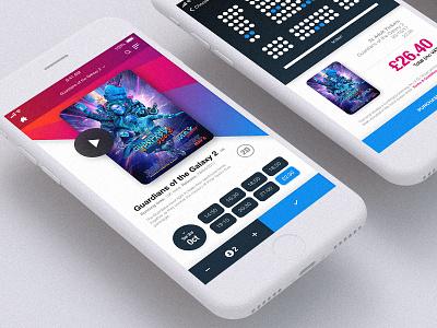 Movie App UI guardians of the galaxy movie cinema ticket winner design ux ui app film