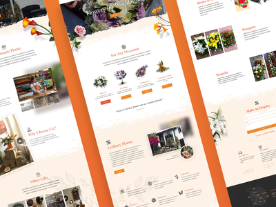 Mango Florist Website - UI Design