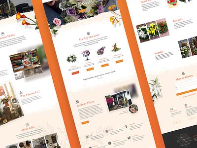 Mango Florist Website - UI Design digital design bristol design ui ledbury website florist mango