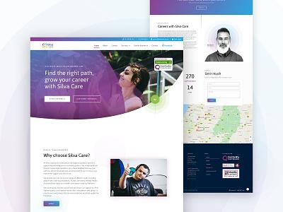 Silva Care Website - UI Design wordpress ui care silva web design website web digital digital design design bristol