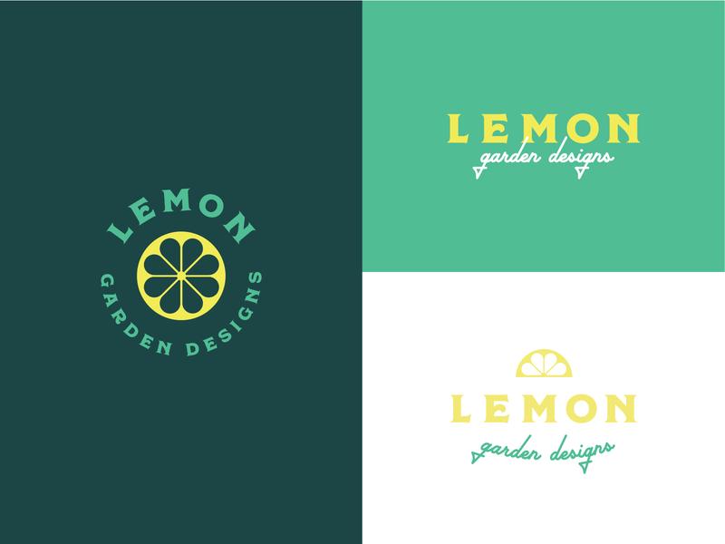 Lemon Garden Designs Branding vintage mid century modern mid century midcentury branding design design illustration branding lemons lemonly lemon lemon logo