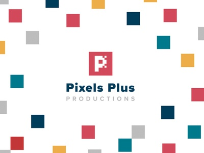 Pixels Plus Productions Branding logo icon branding design design branding