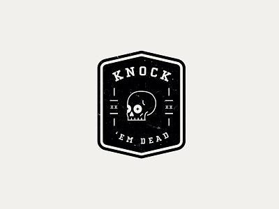 Knock 'Em Dead vector icon identity illustration branding design