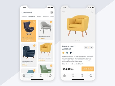 eCommerce App Product Listing concept