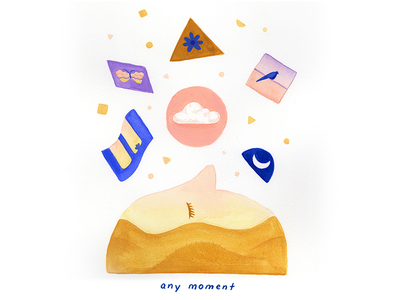 07. any moment moments conceptual conceptual illustration editorial illustration illustration gouache self love pause poetry empowerment mindfulness contemporary at