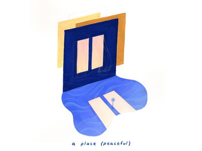 08. a place (peaceful) poetry rest pause gouache empowering mindful peaceful calm conceptual illustration editorial illustration illustration