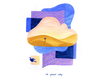 11. in your sky gouache design calm conceptual surreal peaceful editorial illustration conceptual illustration illustration