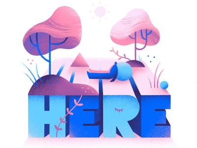 here be present be here be here now mindful calm peaceful conceptual surreal editorial illustration conceptual illustration illustration