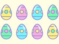 Easter eggs social media graphic