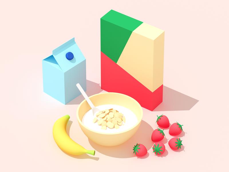 Breakfast web design isometric isometric illustration flat illustration food infographic illustration 3d