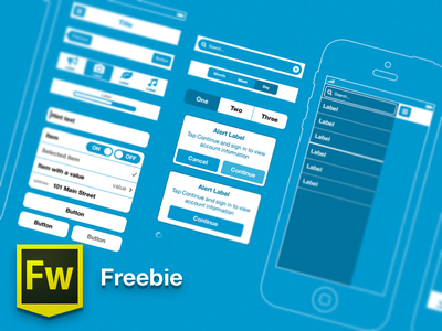 Free! Adobe FW template for iOS 6 wireframing (blueprints) free freebie wireframes mockup blueprint ios template adobe fireworks adobe fireworks interfaces app