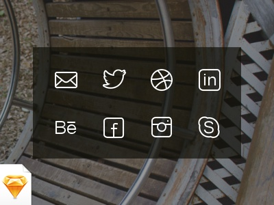 Social & Get in Touch Icons (Free) free freebie sketch icon icons iconset social contact