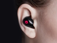 Air by crazybaby. True Wireless headphones product visualisation