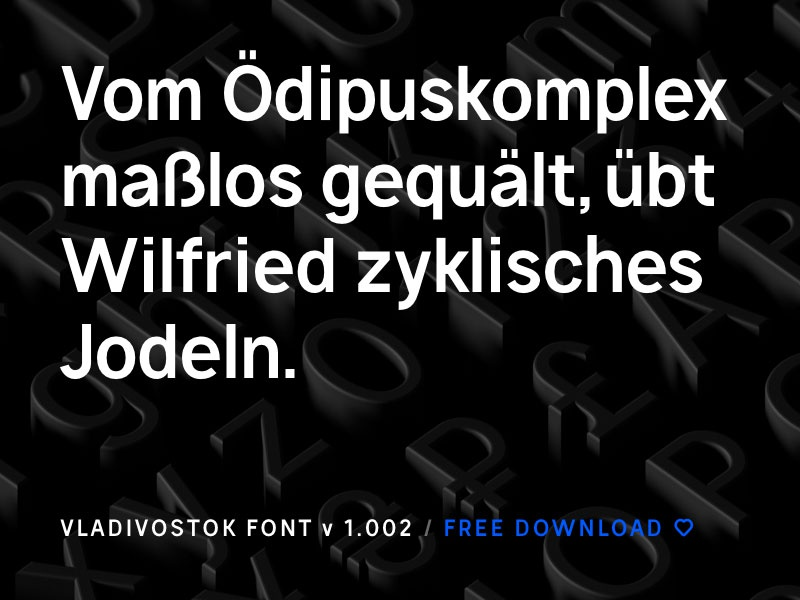 Vladivostok font 1 2