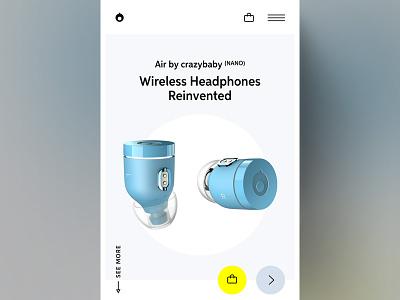 Air by crazybaby ⁽ᴺᴬᴺᴼ⁾ logo brand branding render 3d minimal website clean simple ui product headphone