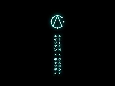 Approved logo for AxC timeless cyber-punk neon alien asia japan logotype symbol monogram identity branding logo