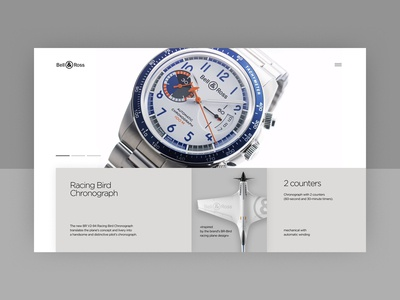 Bell&Ross — main page concept