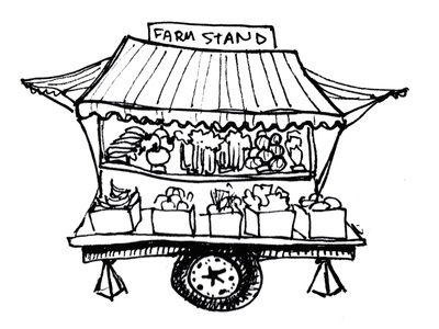 Farm Stand Illustration By Idelle Fisher