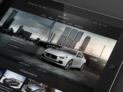Maserati (Russia) / main page final version  web design main page web