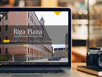 Riga Plaza webiste design