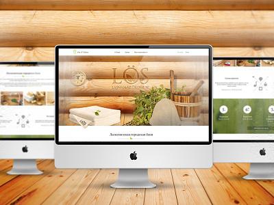 City Sauna web design web ux landing page ui