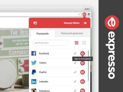 Expresso plugin for browser web desigm pludin design interface plugin ui