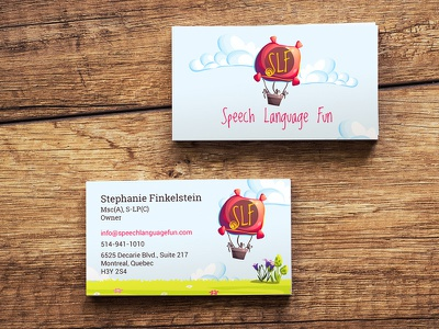 Slf Business Card print design fun design business card