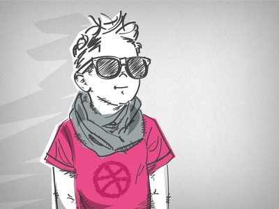 Dribbble is 5! ball icon birthday comic cool dribbble five hipster illustration kid pink playoff rebound