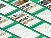 Website Mockup – Home and Contacts pages