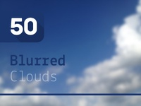 50 Blurred Clouds – Backgrounds Pack