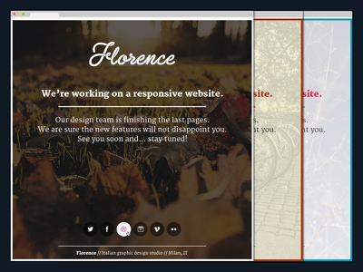 Florence   Coming Soon - PSD background image coming soon fullscreen landing page layout minimal one page psd responsive single page social template
